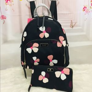 Kate Spade Dawn Dust  Medium Backpack and wallet